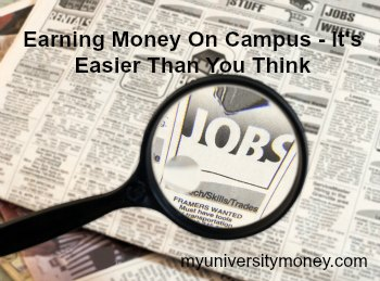 earning money on campus