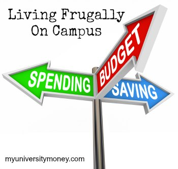 living frugally on campus
